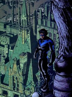 Nightwing (Dick Grayson) is a fictional character, a superhero in the DC Comics universe. Created by Marv Wolfman and George Pérez, first appearing in Tales of the Teen Titans #44 in 1984. Dick was the son of John and Mary Grayson, a family circus act (The Flying Grayson's) that performed at Haly's Circus. One night Dick sees his parents murdered by a mafia boss, coincidentally Bruce Wayne, (Batman) witnesses the terrifying act and offers to take Dick in. He soon figures out that Bruce Wayne…