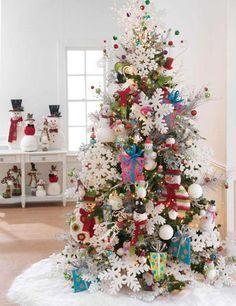 Love The Big Snowflakes Tabletop Christmas TreeChristmas Tree ThemesWHITE
