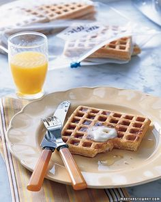 It's fun to whip up fresh waffles for your family on a Sunday morning, but who can manage it during the week? Next time you have the waffle iron out, make extras, and freeze your delicious creations for later. Let them cool completely on a rack, and layer them in a plastic bag with parchment between them (so you can remove one at a time quickly). They can be frozen for up to a month. On a busy morning, just pop one in the toaster, and voila -- breakfast is ready!