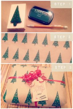 "My Pinterest-friendly ""tutorial"" for DIY wrapping paper"