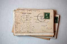 love love love old letters and post cards Old Letters, You've Got Mail, Handwritten Letters, Beautiful Mind, Snail Mail, Letter Writing, Mail Art, Homestuck, Vintage Postcards