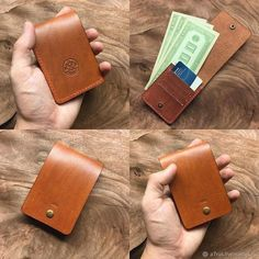 Leather Art, Leather Tooling, Leather Jewelry, Leather Design, Handmade Leather Wallet, Leather Gifts, Diy Leather Wallet Pattern, Leather Card Wallet, Crea Cuir