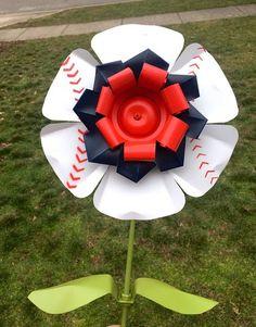 Baseball Softball Aluminum Flower Stake recycled metal yard