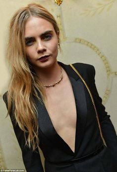 Hair-less and bra-less at Paris fashion week! For the how-low-can-you-go, bra-less, shirt-less and generally topless look is the fashion world's latest wheeze and being HairFree is essential for this look.  Cara Delevingne flashes her chest at a Paris Fashion Week party for a film about Carine Roitfeld. BUY: www.hairfreesales.com/buy_hairfree_here/