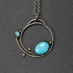 Collier turquoise Sterling Sleeping Beauty collier par HollyPresley