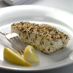 Thyme and Sesame Crusted Halibut. This one's a winner!