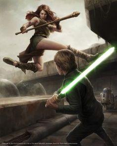 Luke Skywalker vs Teneniel Djo