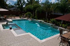 Escaping daily cares....in Houston by PoolMan Inc.
