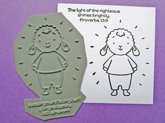 Shines Brightly  Unmounted Bible verse rubber by HeatherEllisArt