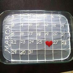 Calendar Cake | Easy DIY Anniversary Gift Ideas for Him