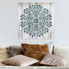 Mandala stencils for walls, floors and furniture. We offer the largest Mandala stencil collection. Reusable Mandala stencils are much better than adhesive mandala decals. Create beautiful painted designs using our Mandala stencils! Wall Stencil Designs, Stencil Wall Art, Tree Stencil, Stencil Wood, Stencil Painting On Walls, Mandala Stencils, Stencil Patterns, Wall Patterns, Damask Stencil