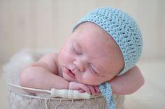 Crochet Newborn Prop Crochet Simple Bonnet with by BirdieBlueProps