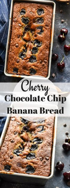 Cherry Chocolate Chip Banana Bread takes a classic and makes it even better with melty chocolate and pops of sweet dark cherries. You don't want to miss this one!