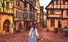 Beauty and the Beast - Riquewihr, Alsace.
