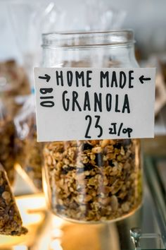 Home-made bio granola