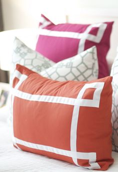 ribbon trimmed pillows for girls rooms?