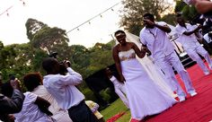 All things were bright and beautiful at this all-white themed wedding