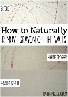 How To Naturally Get Crayon Off The Wall: Hereu0027s A Simple Way To Remove  Crayon