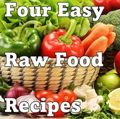 A Three-Course Meal Using Simple Raw Food Diet Recipes #rawfood #diet