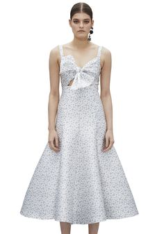WHITE SKY TIE FRONT BALL DRESS |