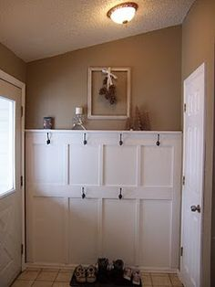How to create a hanging/mudroom/laundry room area