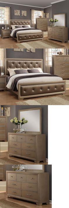 Bedroom Sets 20480 Modern Elegant Design Beige Color 4Pc Queen Size