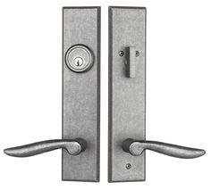 Rockwell Verano Entrance Door Handleset With Dahli Lever In Distressed  Nickel Finish Front Door Hardware,