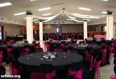 Decoração para casamento preto e rosa
