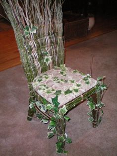 Faerie garden chair for The Earth Cocoon