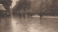 Stieglitz, Alfred; A Wet Day on the Boulevard, Paris, 1894.