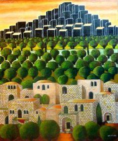 Nabil Anani on Palestine Art, Bible Stories, Landscape Art, Art World, Landscaping, Folk, Paintings, Fine Art, Mansions