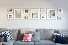 I'm going to start this off by giving credit where it's due: I was 100% inspired by David & Kristy Abel's wall of silver IKEA frames! You have to go see theirs, it's way…