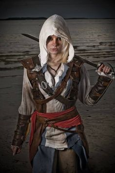 Assassin's Creed #Cosplay by Alexa Karii If I ever cosplay I want it to be assassin's creed costume! It's so freaking cool!