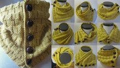 wear this Yellow Brick Road knitted cowl in multiple ways. This versatile Yellow Brick Road knitted cowl will spice up your outfit. FREE pattern here …