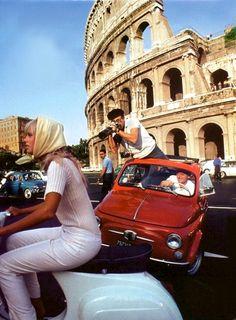 Vespa, Paparazzi, Rome, Italy