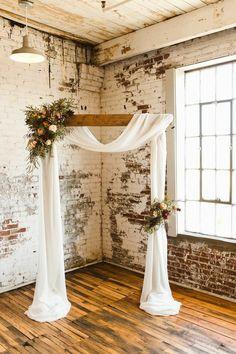 Simple Wedding Arch, Indoor Wedding Arches, Fall Wedding Arches, Wedding Arch Flowers, Simple Weddings, Blue Weddings, Winter Weddings, Wedding Arch Decorations, Wedding Ideas