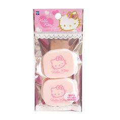 2pce Hello Kitty Make Up Puff Cosmetic Triangle Foundation Sponge Powder Facial #MJEC