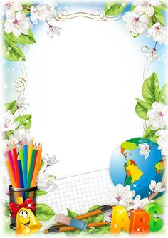 VK is the largest European social network with more than 100 million active users. Frame Border Design, Boarder Designs, Page Borders Design, Kids Background, Flower Background Wallpaper, Flower Backgrounds, School Border, Disney Frames, Certificate Design Template