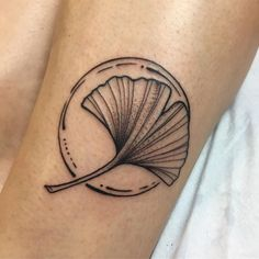 "205 Likes, 6 Comments - Mackenzie Swecker (@emsqweez) on Instagram: ""Simple little babe. Thank you Rose! #tattoo #blackwork #gingko #leaf #emsquills #markedstudios…"""