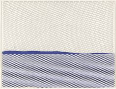 Roy Lichtenstein. Seascape I from New York Ten. 1964 (Published 1965).