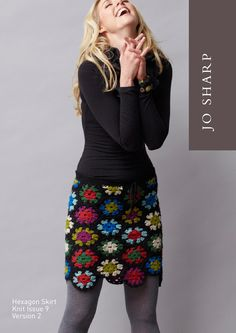 Hexagon Skirt- long and short versions of this granny square skirt. Free patterns.