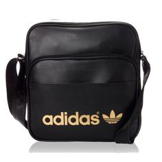 Adidas Shoulder Bag NWOT- Black with Gold Adidas logo. Dimensions  30 cm x 865938d283b8f