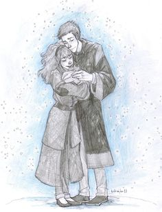 Ron and Hermione with their daughter Rose <3 by Burdge