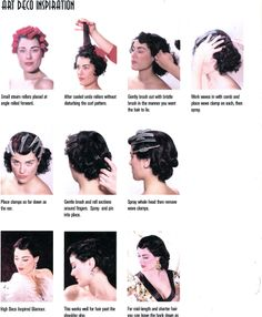 Art Deco Hair tutorial, good to know how to get those waves!