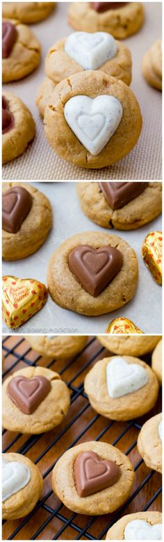 Soft-Baked Peanut Butter Sweetheart Cookies. These are the ultimate soft peanut butter cookie and are so easy to make!