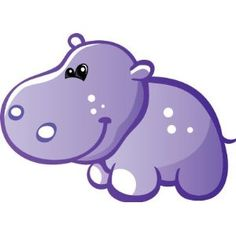 Purple Baby Booties Clip Art | dibujos de hipopotamos para imprimir Disney Wall Stickers, Wall Stickers Uk, Wall Stickers Quotes, Nursery Wall Stickers, Cartoon Hippo, Cute Cartoon Animals, Childrens Wall Decals, Power Colors, Shrink Art
