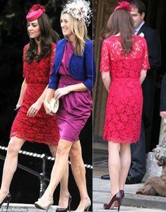 Collette Dinnigan Red Lace Dress (Custom)