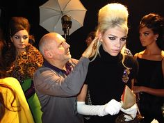 Sam McKnight backstage at DSquared2 Fall 2012 in Milan