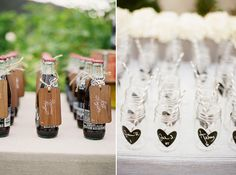 Wedding Trends: Personalised Seating Chart using drinks and named mason jars
