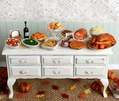 This item is reserved for Sharon. Please do not buy if youre not Sharon. Thanks!    Filled with holiday favorites, this shabby sideboard has